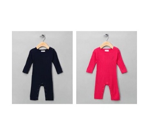 3c5d3e5f4d72 Organic Bamboo Cable Knit Jumpsuit - Boutique Baby