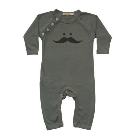 1ee87ce10 Organic Cotton Babygrow - Moustache - Boutique Baby