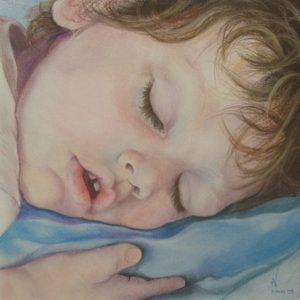 Dreaming - Pastel on paper