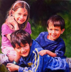 Siblings - Acrylic & Inks on Canvas