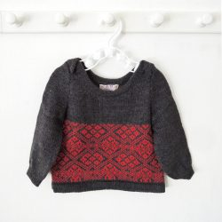 Charcoal Grey Flame Red Jumper