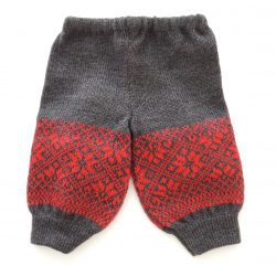 Charcoal Grey Flame Red joggers